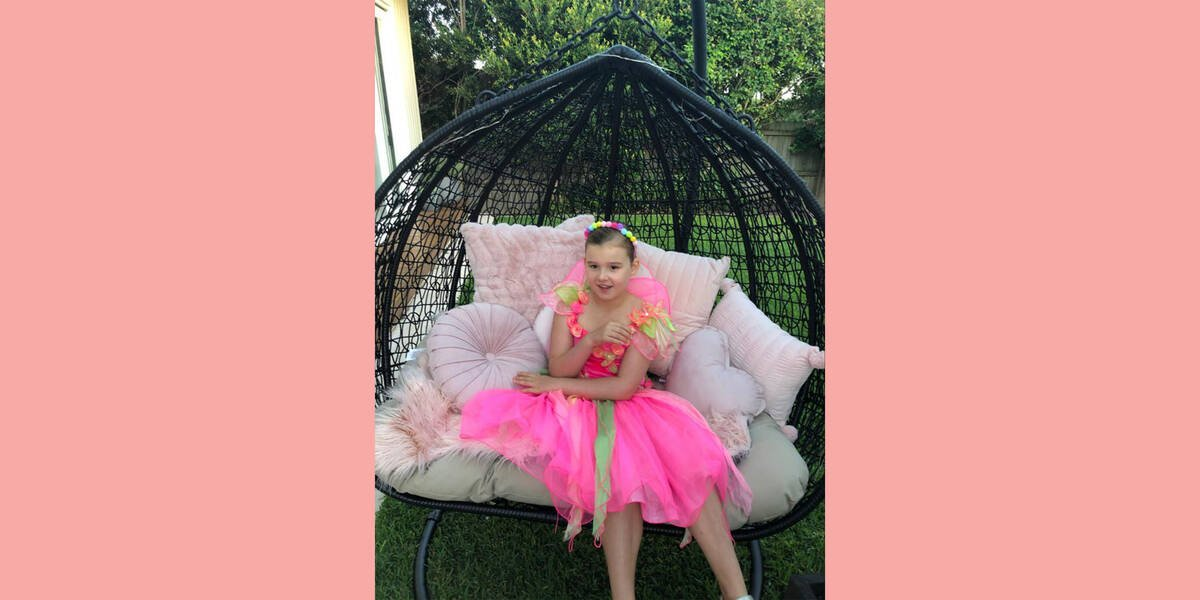 Make-A-Wish kids Charlotte on her wish day as her wish for a fairy garden comes true