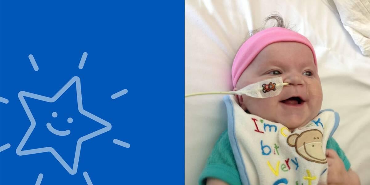 Make-A-Wish Australia wish kid Hannah as a baby