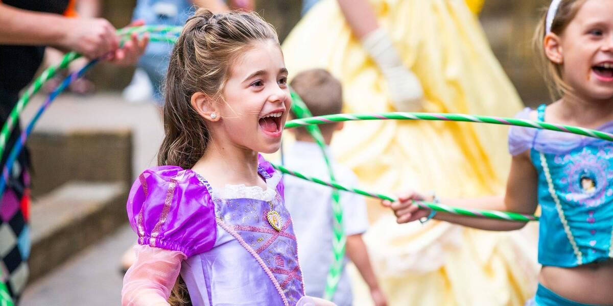 Make-A-Wish wish kid Savannah at her princess wish