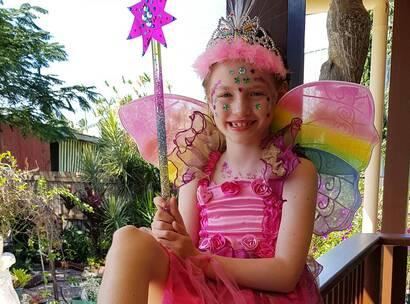 Make-A-Wish wish kid Scarlett dressed as a fairy