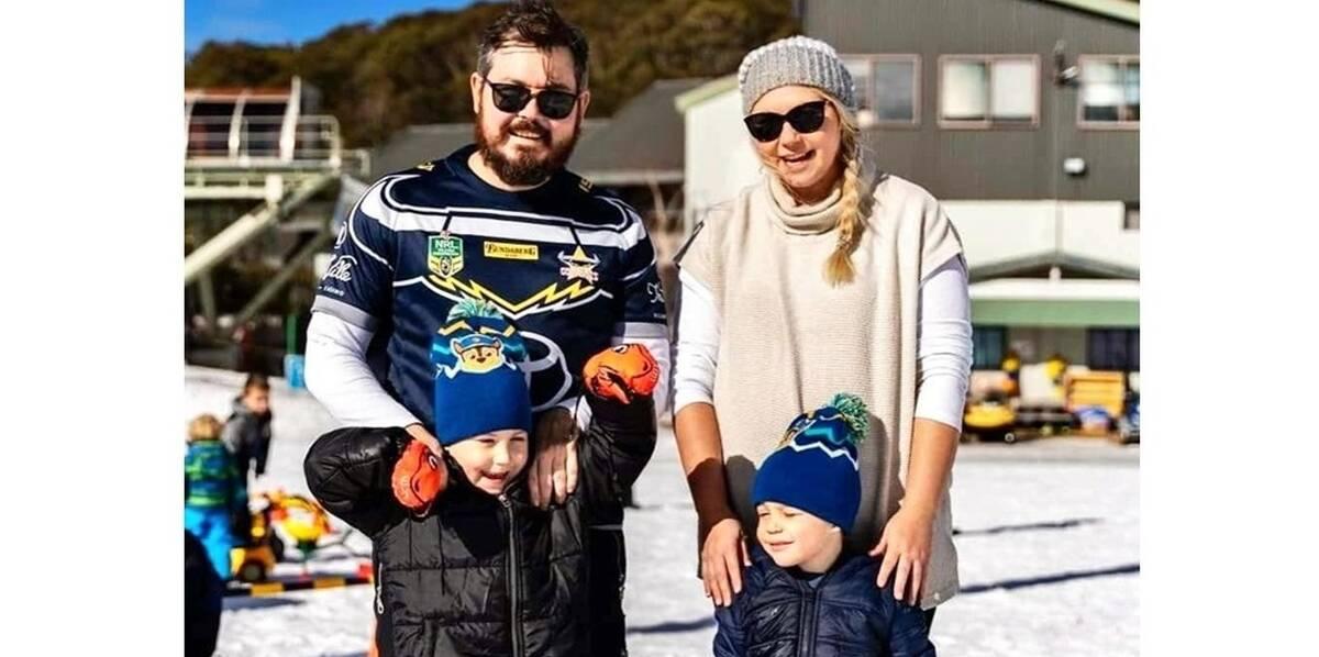 Make-A-Wish Australia wish kid Hunter at Mount Hotham ski fields with family on his snow wish