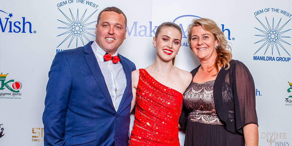 Make A Wish Australia Children's Charity - Grace our wish ambassador at an event