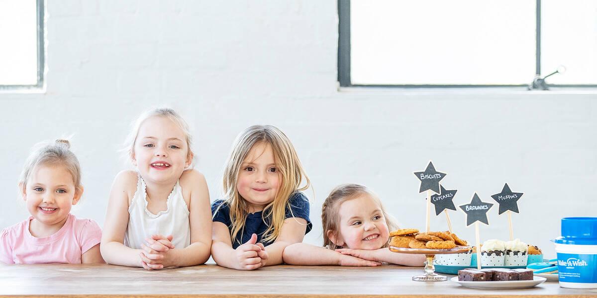 Make A Wish Australia Children's Charity - Bake a wish kids at a bake sale fundraising