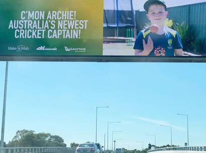 Make A Wish Australia Children's Charity - Archie's wish on an Ooh! Media billboard