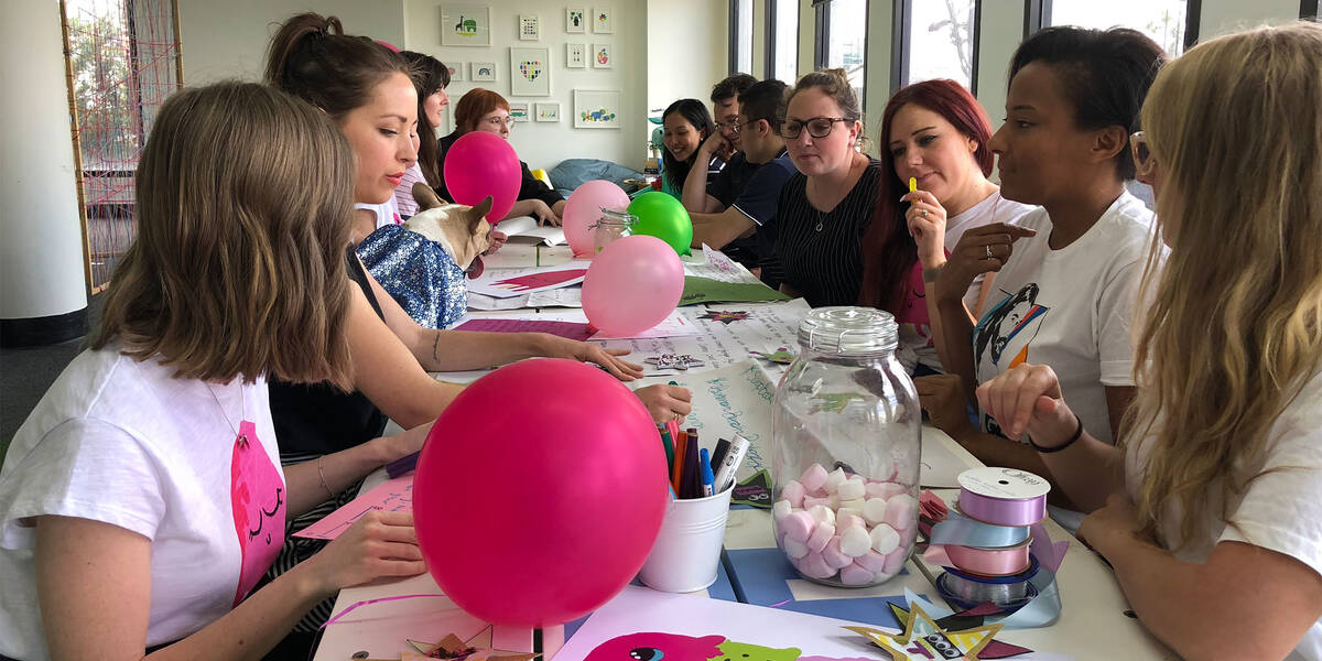 Make A Wish Australia Children's Charity - Wish workshop with balloons and lollies