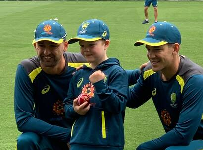 Archie's Wish, Make A Wish Australia, Charity, Child, Little boy with Australian Cricketers