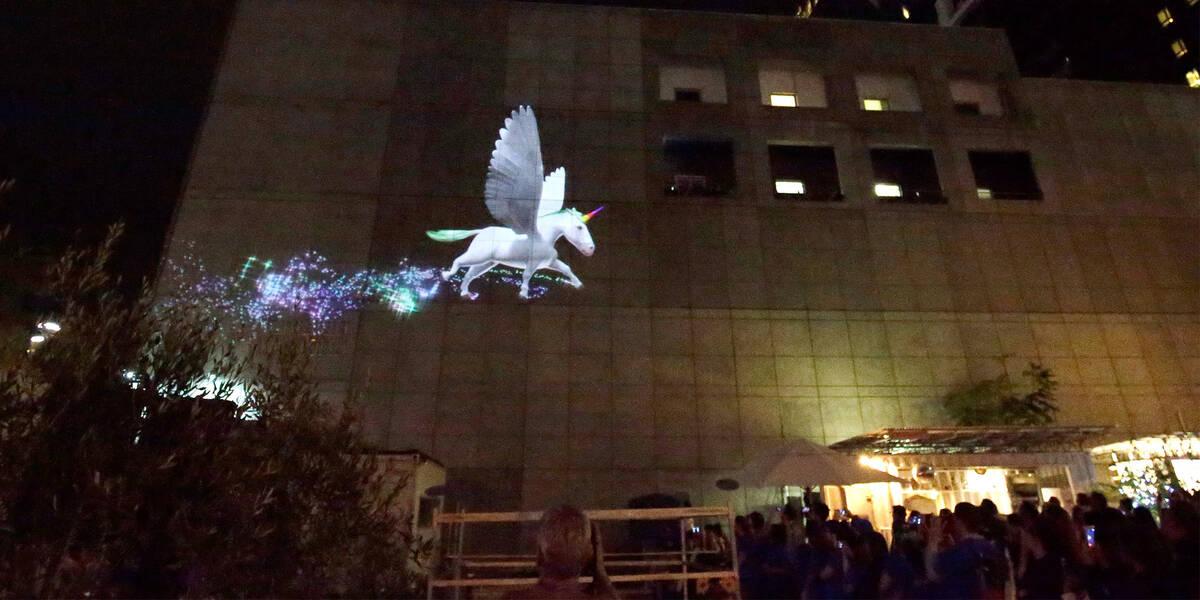 Make A Wish Australia Children's Charity - Scarletts wish showing a unicorn flying