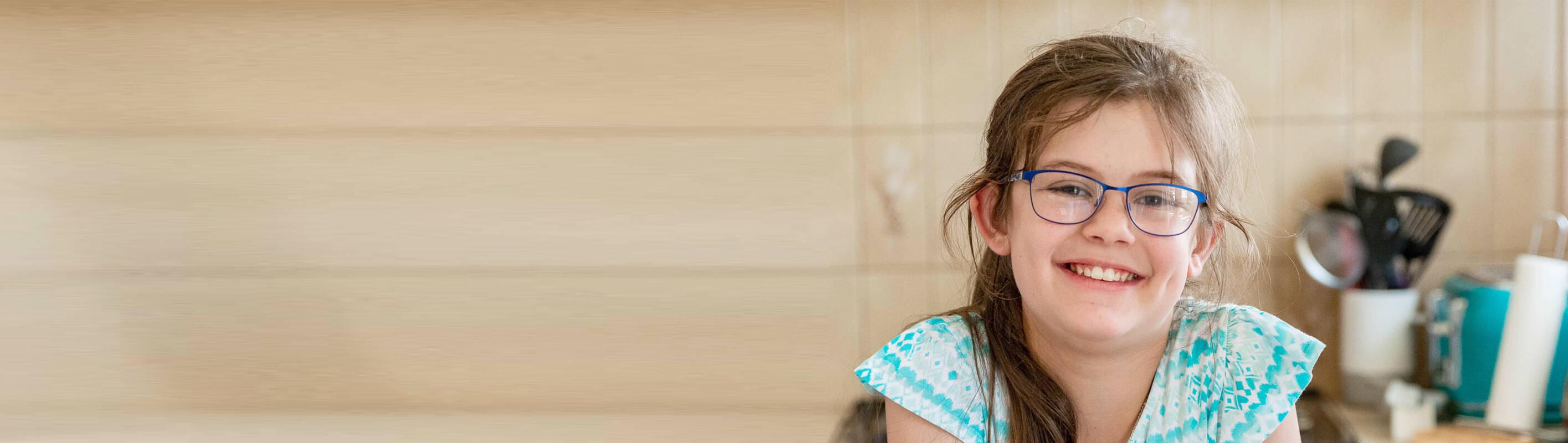 Make A Wish Australia, Children's Charity - Abbey baking in the kitchen