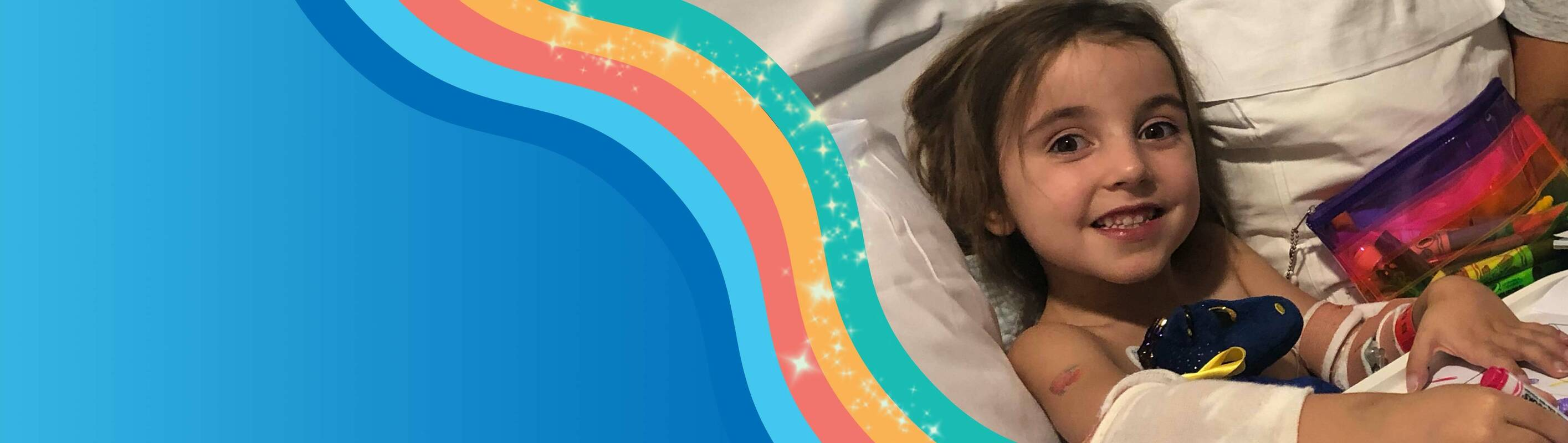 Make-A-Wish Australia wish kid Willow in a hospital bed