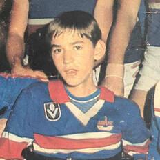 Make-A-Wish Australia's first wish child Shawn sat in Western Bulldog colours