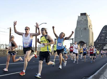 Make A Wish Australia Children's Charity - Team Wish running in the Sydney Running Festival