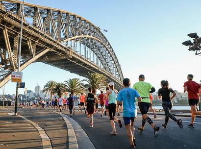 Make A Wish Australia Children's Charity - Team Wish running in SMH Half Marathon